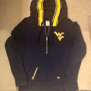Pink WVU 1/4 Zip hoodie
